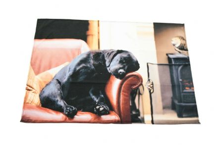 Sleeping Labrador Tea Towel